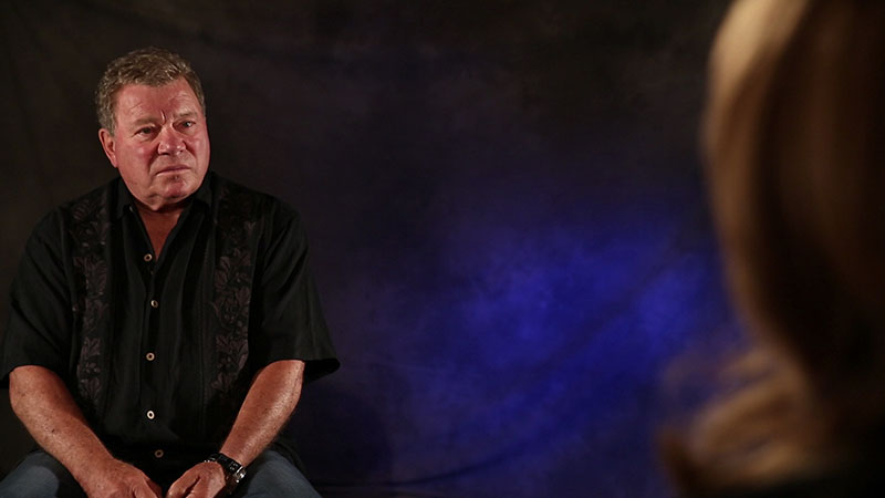 Shatner talks to TNG star Gates McFadden