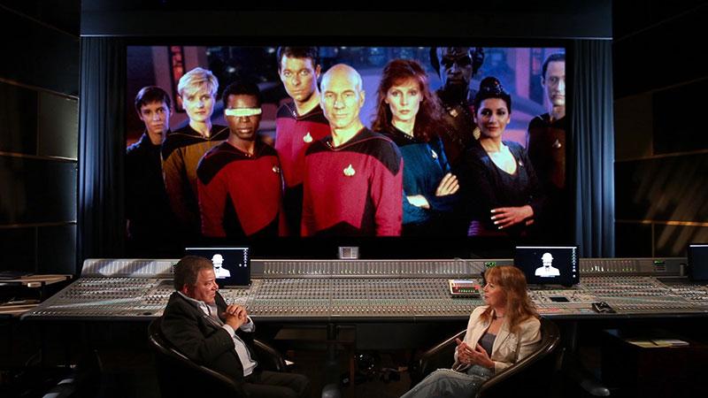 William Shatner and TNG writer Melinda Snodgrass