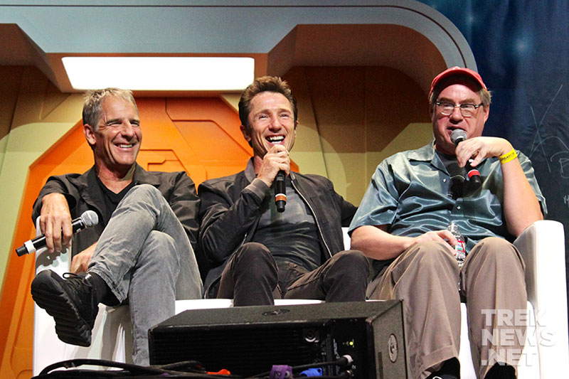 Scott Bakula, Dominic Keating,and John Billingsley