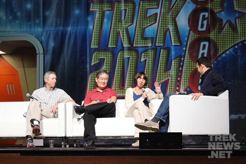James Conway, Mike Okuda, Denise Okuda and Roger Lay, Jr.