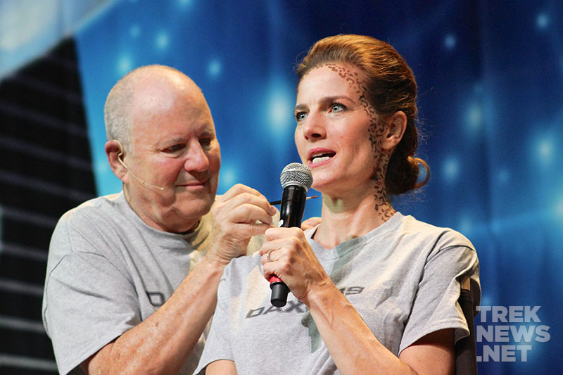 Michael Westmore and Terry Farrell