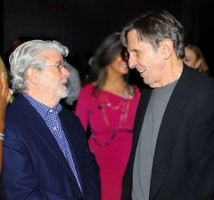 Star Trek & Star Wars Collide As Leonard Nimoy Meets George Lucas