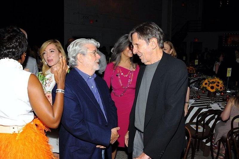 Star Wars creator George Lucas and Star Trek's Leonard Nimoy.