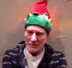 WATCH: Patrick Stewart Gets Festive