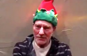 WATCH: Patrick Stewart Gets Festive