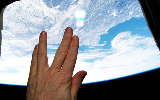 ISS Astronaut Pays Tribute To Leonard Nimoy