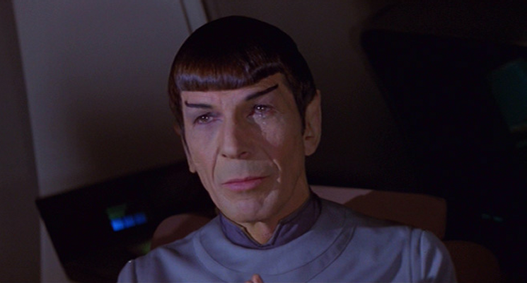 Spock crying for V'ge
