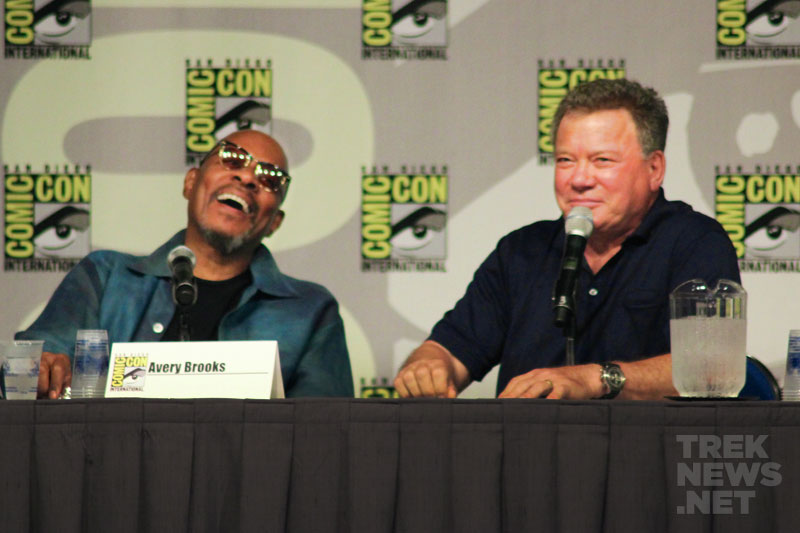 Avery Brooks & William Shatner at SDCC 2011