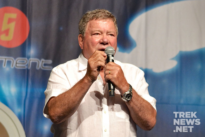 William Shatner on stage at STLV 2015