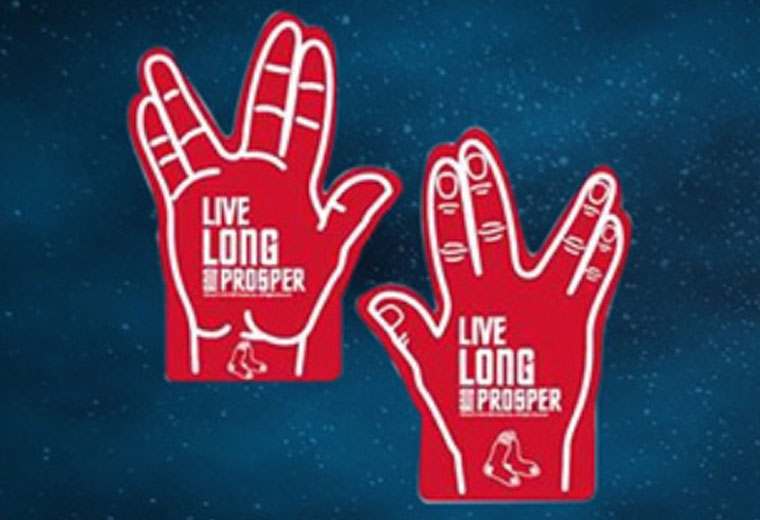 "Red Sox ""Star Trek Night"" Foam Fingers"