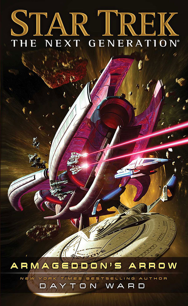 """Star Trek: The Next Generation: Armageddon's Arrow"" cover art"