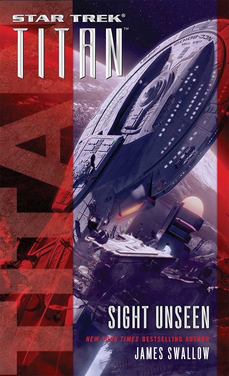 """Star Trek: Titan: Sight Unseen"" cover art"