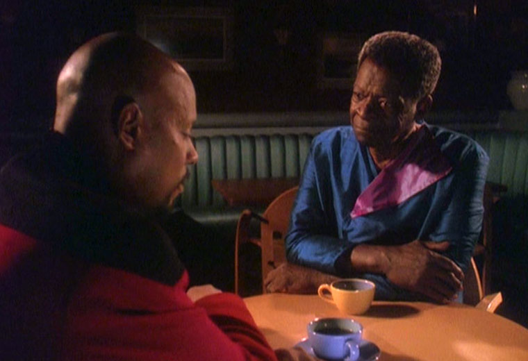 "Capt. Benjamin Sisko and Joseph Sisko from ""Paradise Lost"" (Photo: CBS)"