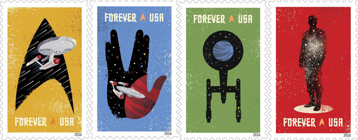 2016 USPS Star Trek stamps