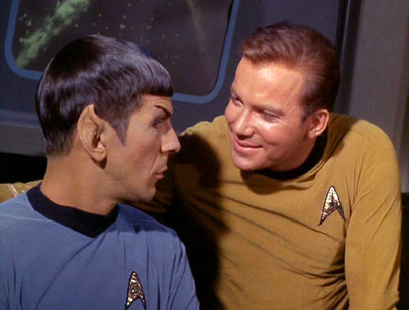 "Nimoy and Shatner on ""Star Trek"""