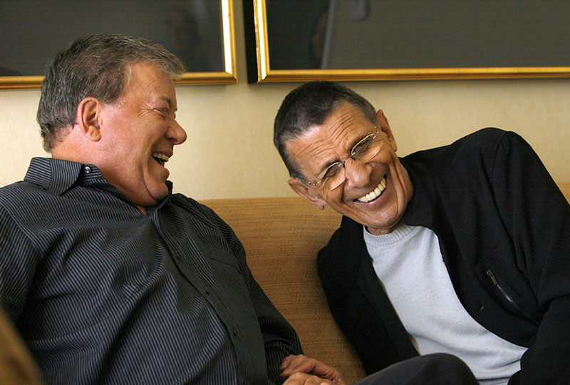 William Shatner and Leonard Nimoy share a laugh
