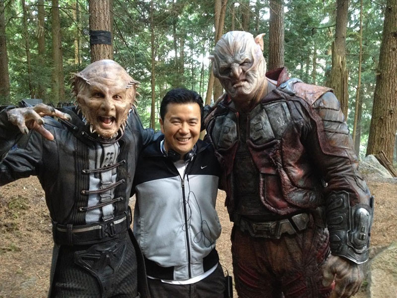 "Justin Lin on the set of ""Star Trek Beyond"""