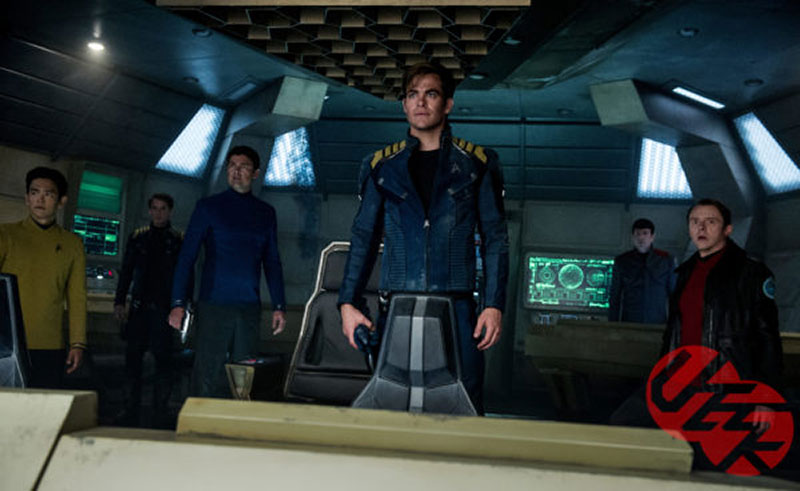 Chris Pine as Kirk and the crew of the Enterprise
