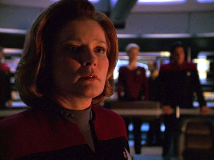 Kate Mulgrew as Capt. Kathryn Janeway on Star Trek: Voyager