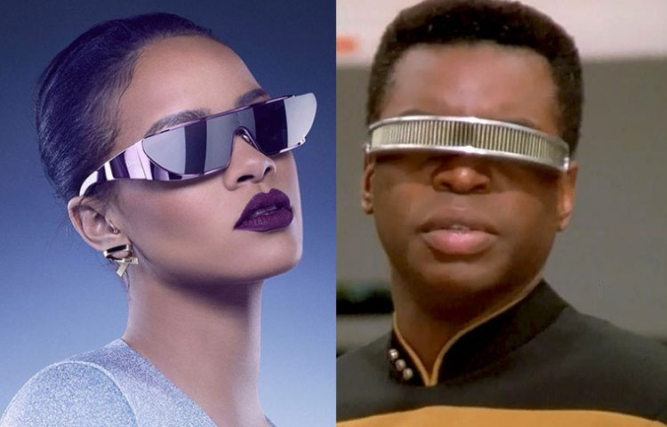 1dc5f61089930 Rihanna s New Sunglasses Line Inspired By TNG s Geordi La Forge ...