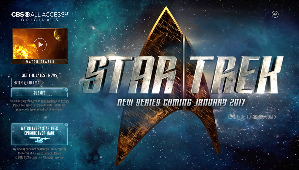 Star Trek All Access series website