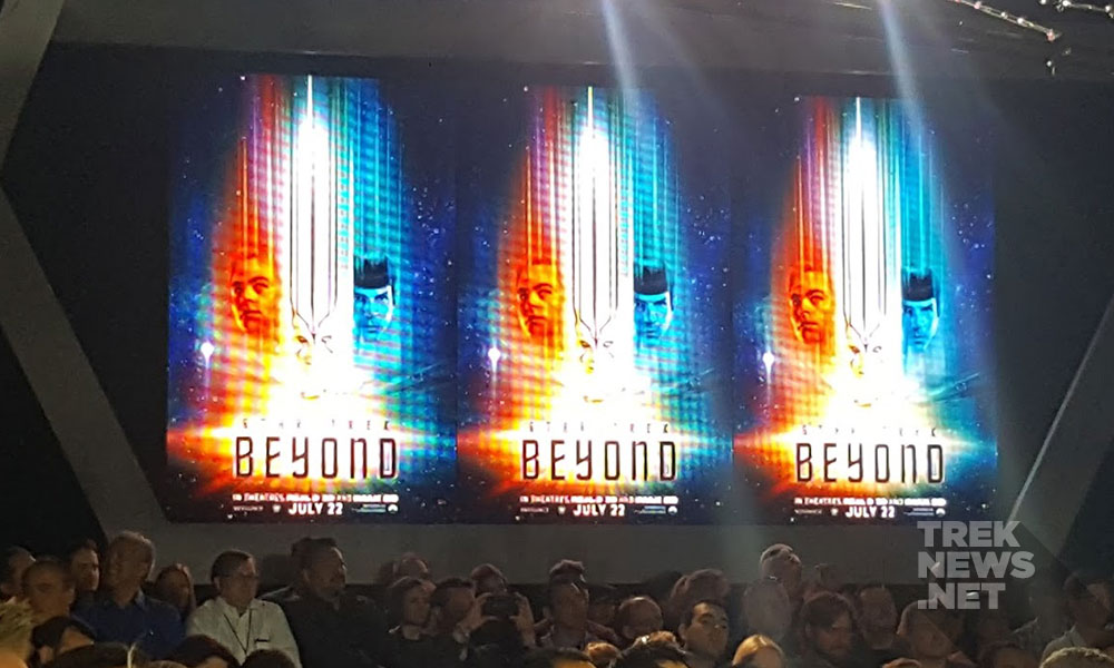 The new Star Trek Beyond poster is unveiled (photo: Anna Yeutter/TrekNews.net)
