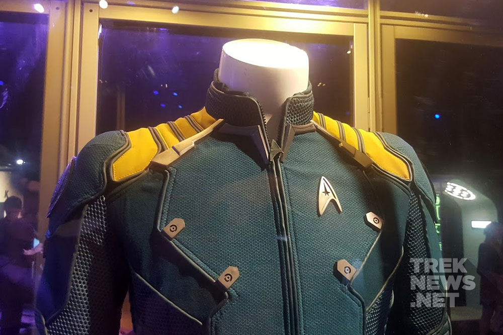 Kirk's Away Mission uniform on display