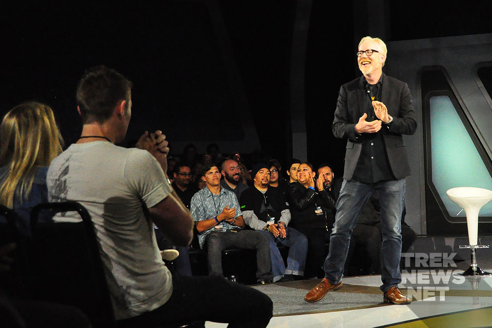 Adam Savage on stage