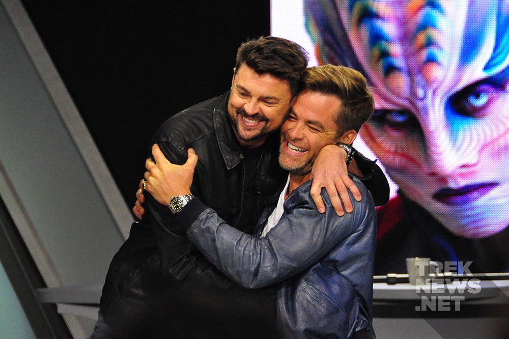 Karl Urban and Chris Pine
