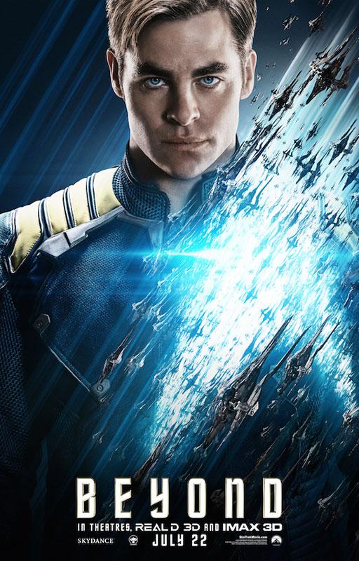 STAR TREK BEYOND poster with Chris Pine as Kirk