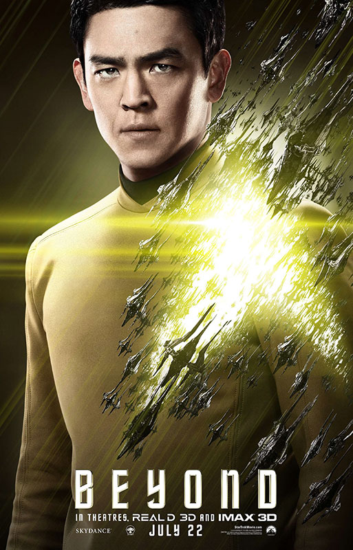 STAR TREK BEYOND poster with John Cho as Sulu