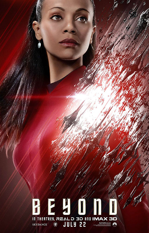 STAR TREK BEYOND poster with Zoe Saldana as Uhura