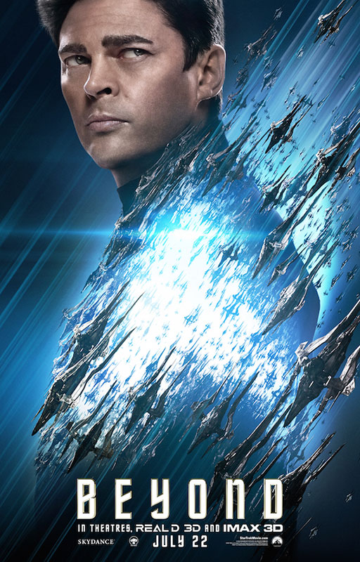 STAR TREK BEYOND poster with Karl Urban as Bones