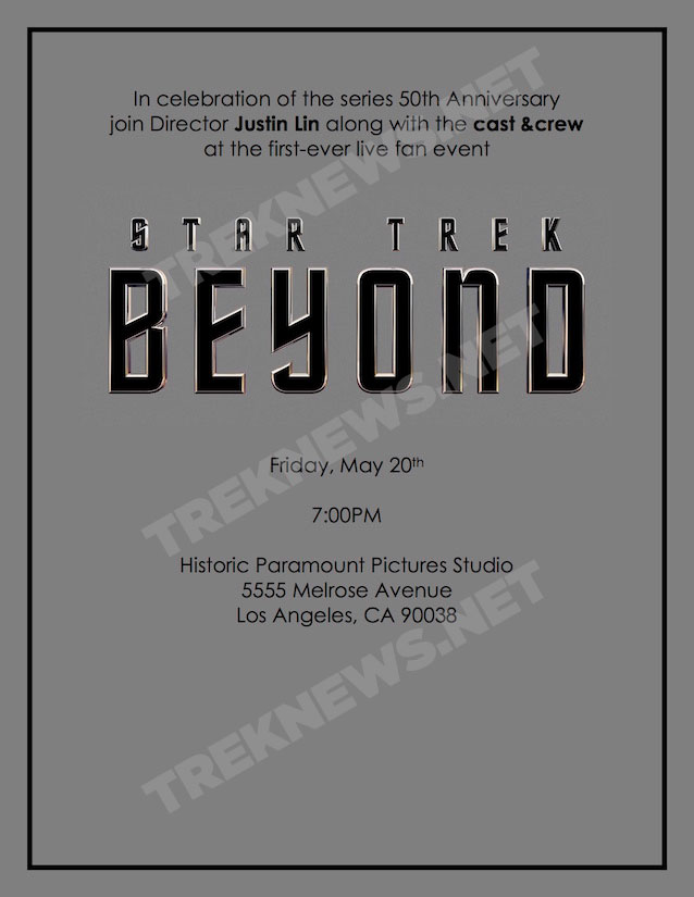 Star Trek Beyond event flyer
