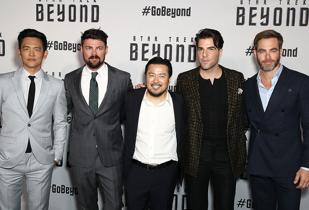 John Cho, Karl Urban, Justin Lin, Zachary Quinto and Chris Pine