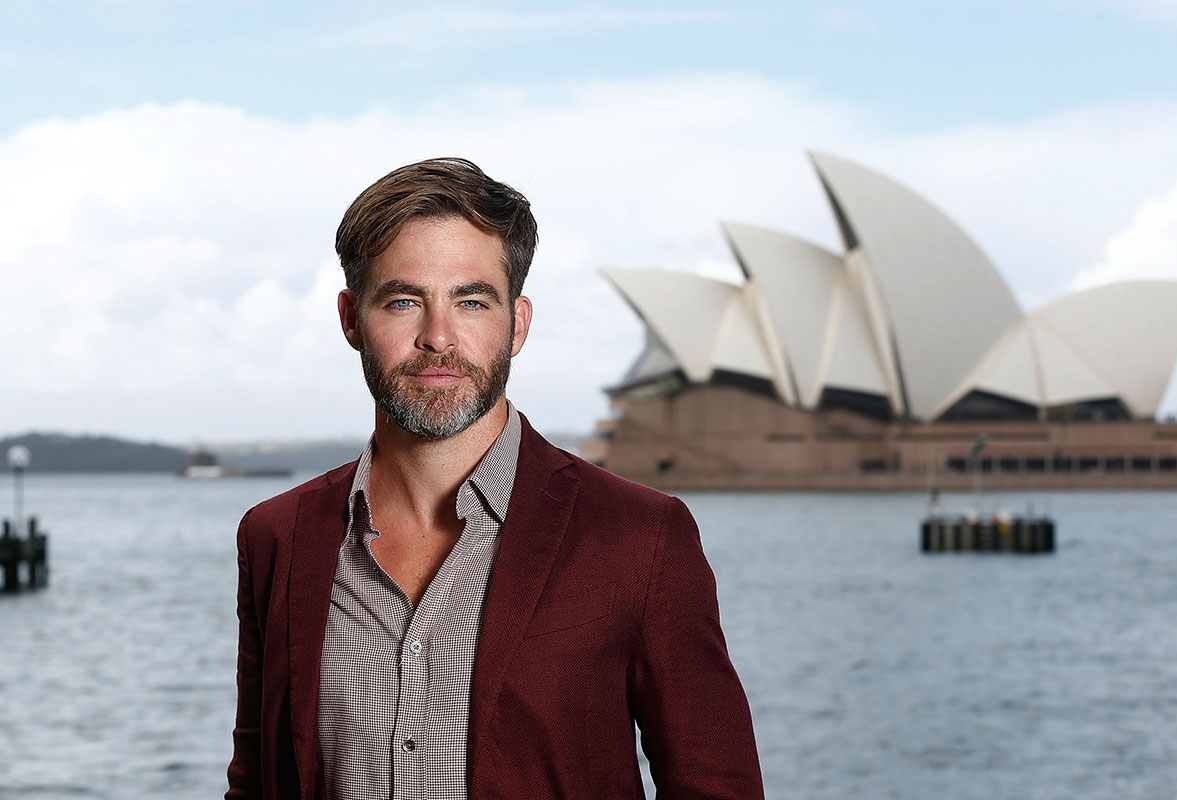 Chris Pine at the Australian premiere of Star Trek Beyond