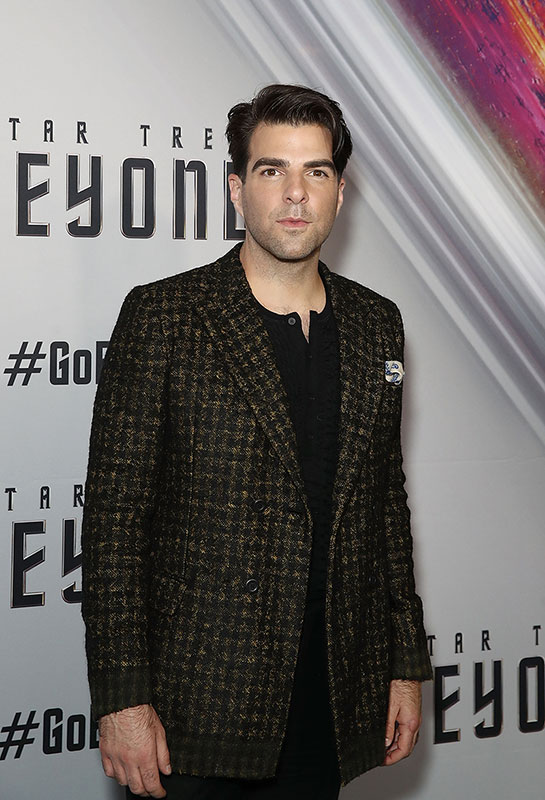 Zachary Quinto at the Australian premiere of Star Trek Beyond