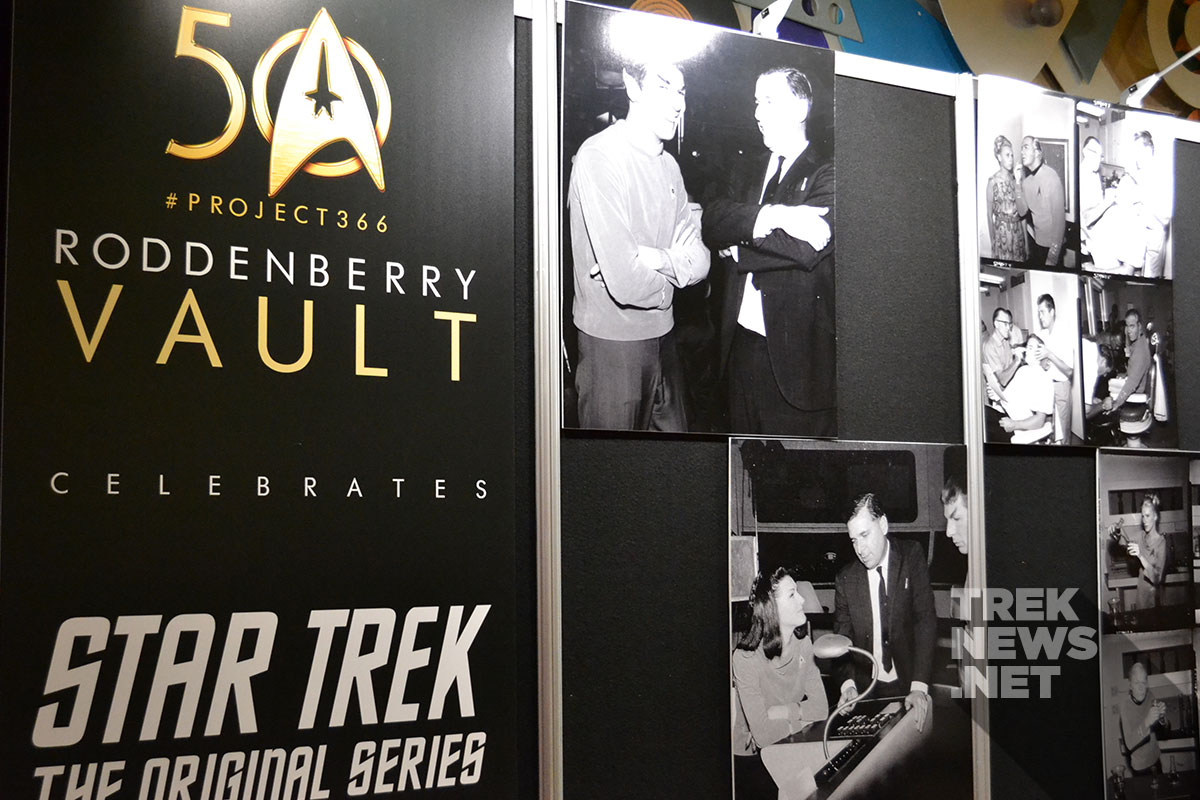 The Roddenberry Vault display at STLV
