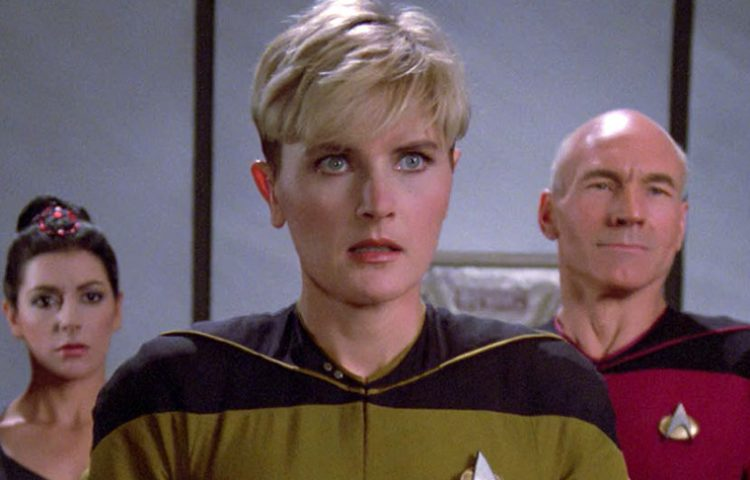You might recognize this early eighties roller skating model as Denise  Crosby, aka Tasha Yar.