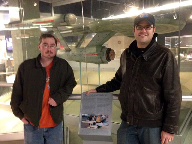 My friend Matt and myself with the Enterprise in 2014