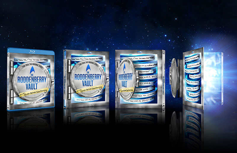Roddenberry Vault Blu-ray packaging