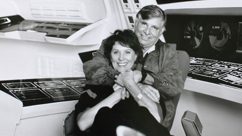 Gene and Majel Barrett Roddenberry