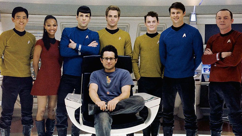 "JJ Abrams and the cast of the ""Kelvin"" Timeline films"