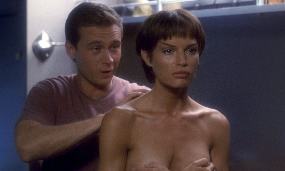 "Trip and T'Pol in ""Xindi"" from Star Trek: Enterprise (photo: CBS Home Entertainment)"