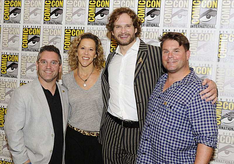 Star Trek: Discovery Executive Producers Trevor Roth, Heather Kadin, Bryan Fuller and Rod Roddenberry at SDCC in July