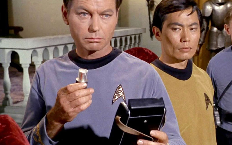 McCoy with his medical tricorder