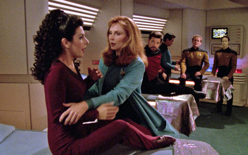 Sickbay on the Enterprise 1701-D