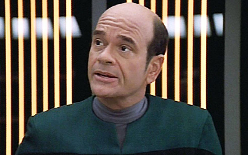 Robert Picardo as the holographic Doctor on Star Trek: Voyager