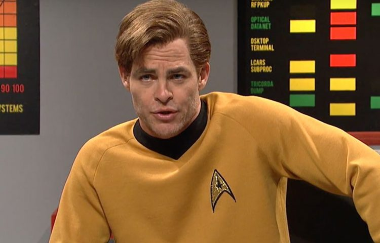Chris Pine spoofs William Shatner in SNL Star Trek parody