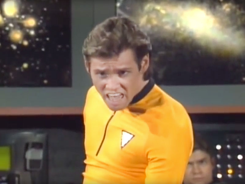 Jim Carrey as Captain Kirk on Saturday Night Live
